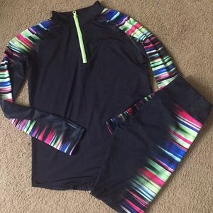 Justice Two Piece Athletic Jogger Suit 14/16